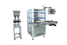 Bubble removing and filling machine