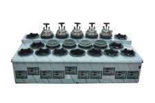 3열 20구 자동 가스밥돌이(압력식)