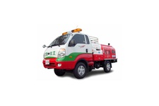 Forest fire extinguishing vehicle