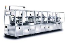 Fully automatic cosmetic wet powder press machine