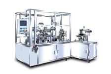 Semi-automatic type wet powder side & back injection machine