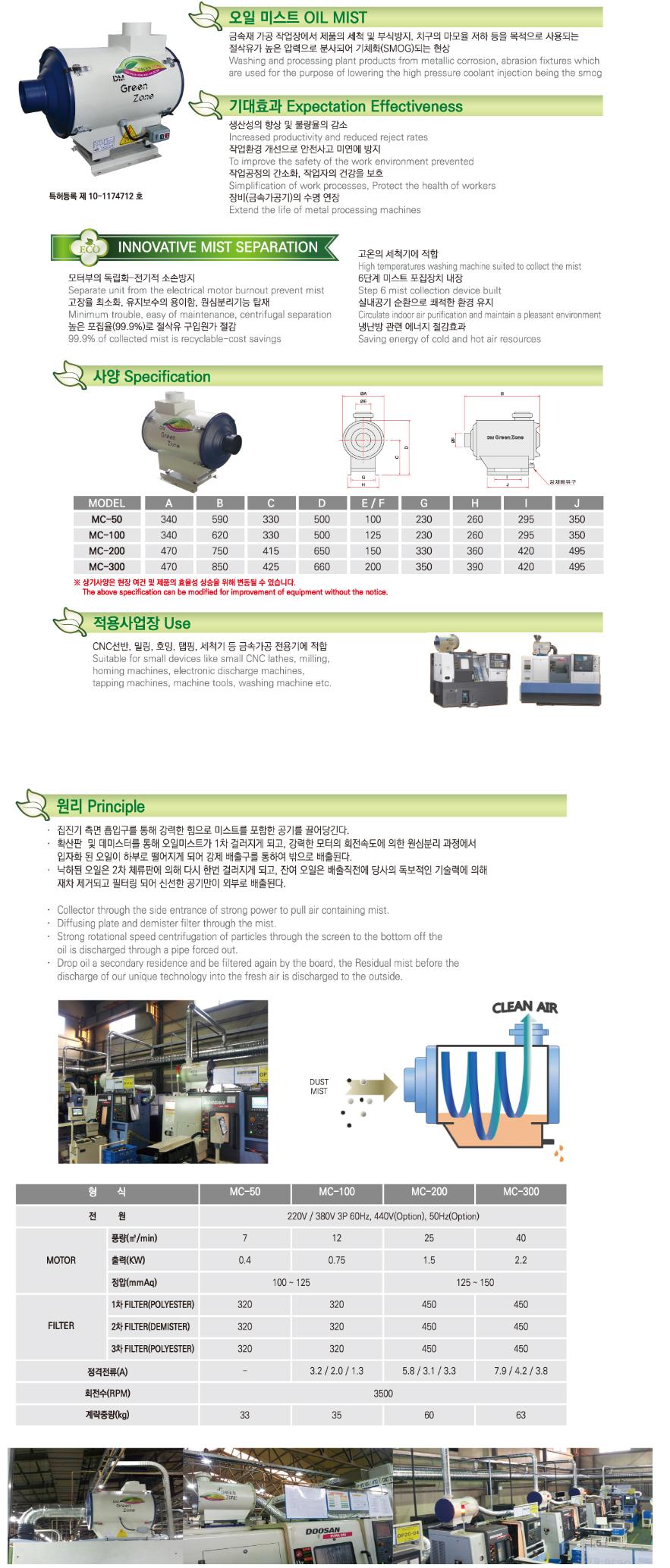 디엠그린존 탑재형 MC-Series