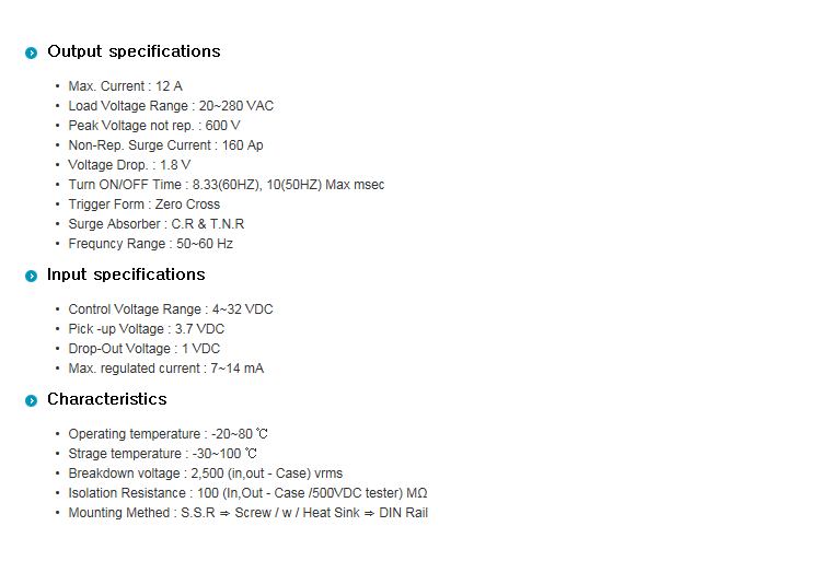 SamWha DSP SQ-Type (AC Out / DC Input + Heat Sink) WKS-1212SQH