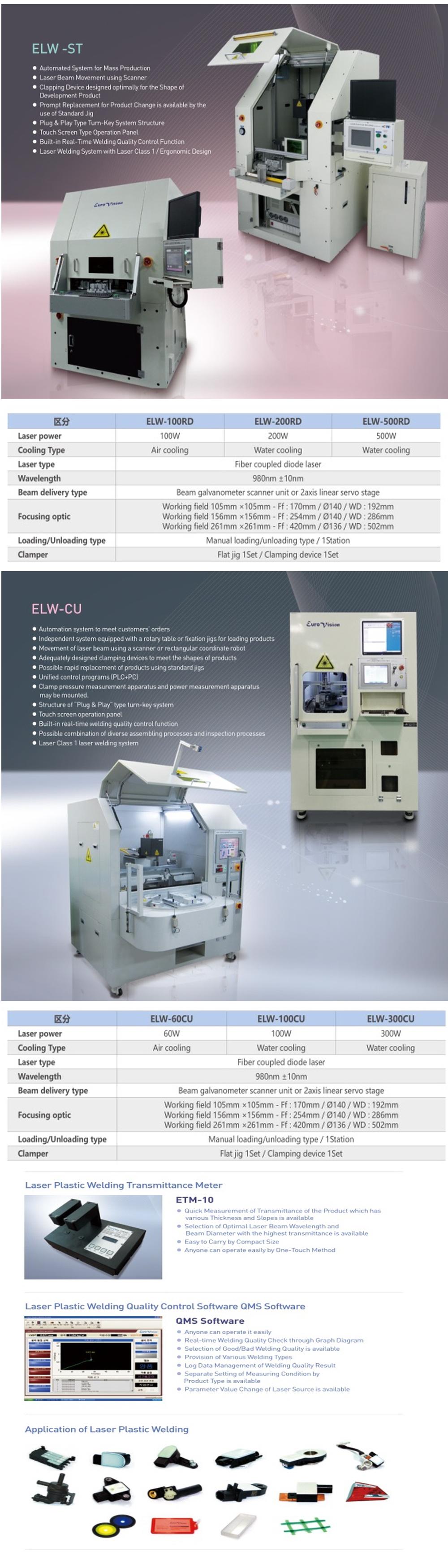 Euro Vision Laser Laser Plastic Welding M/C ELW-Series