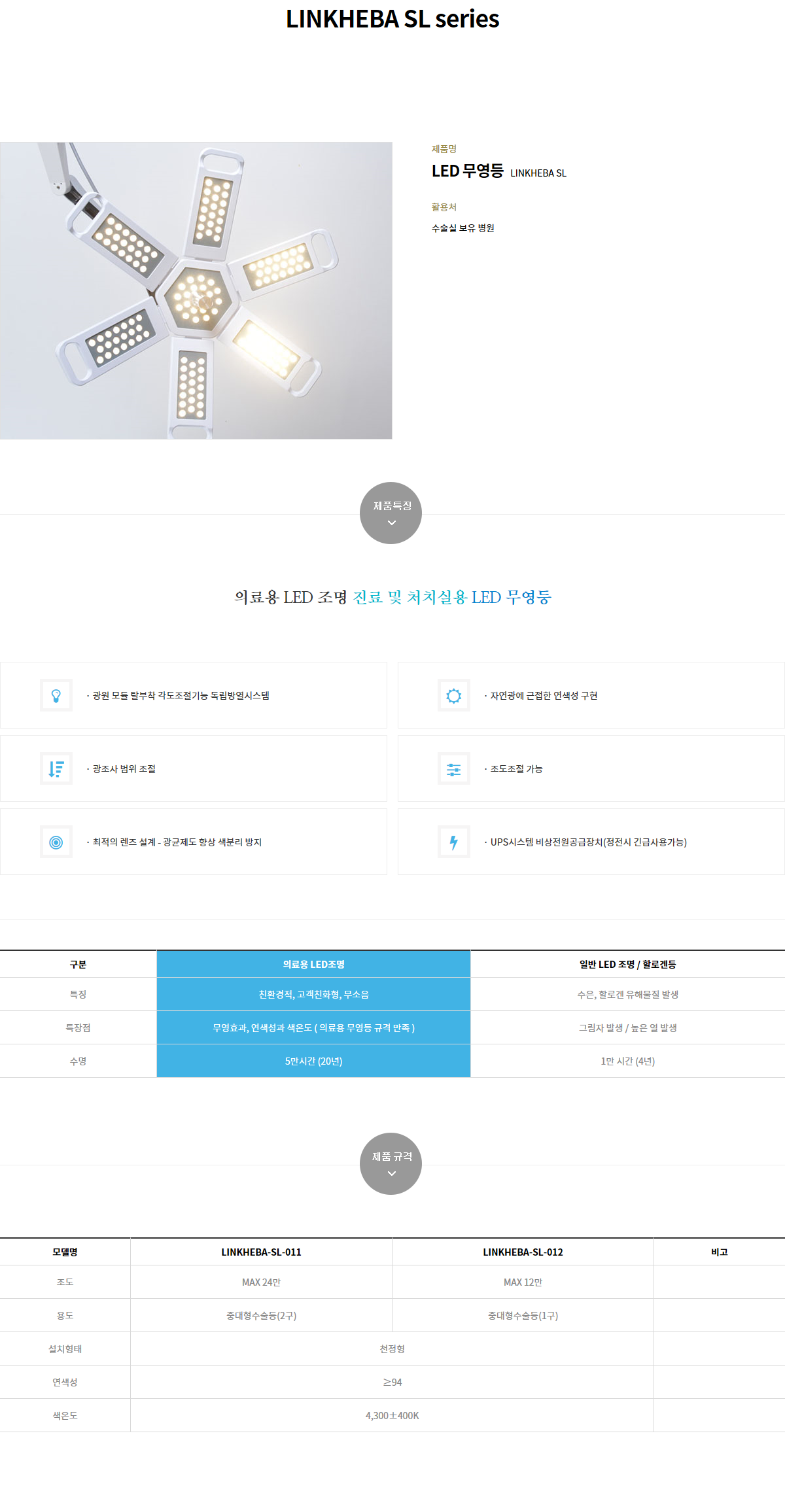 (주)링크옵틱스 무영등 / 이동형소형무영등 LINKHEBA SL Serieslamp 2