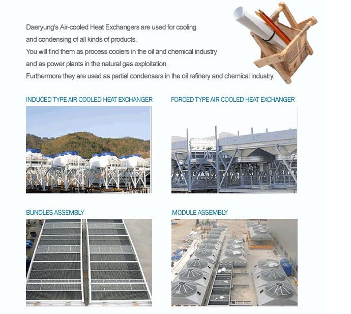 DAERYUNG - Air Cooled Heat Exchanger Aluminum pin tube, Radiator