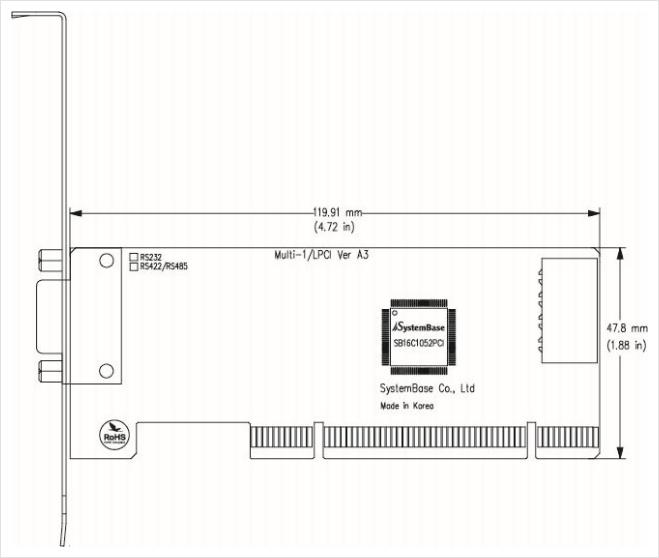 (주)시스템베이스 PCI Multi-1/LPCI RS232 5