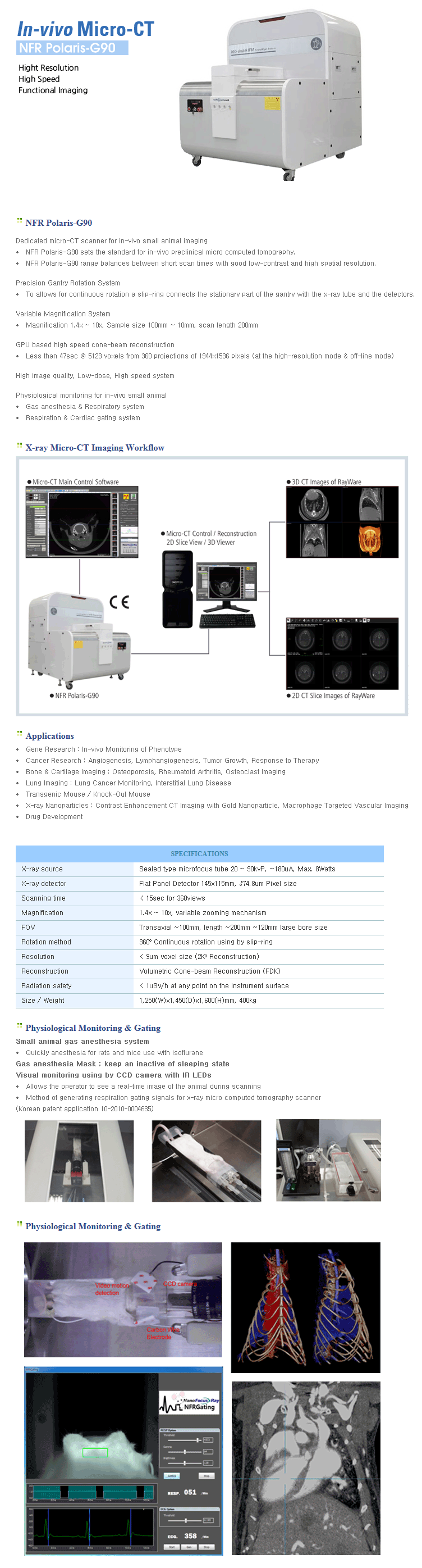 NanoFocusRay - Micro-CT - NFR Polaris-G90 - Medical, Pre-clinical