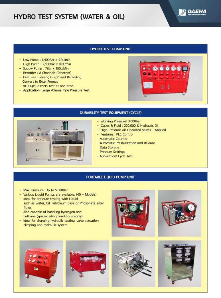 DAEHA Liquid & Manifold Test System