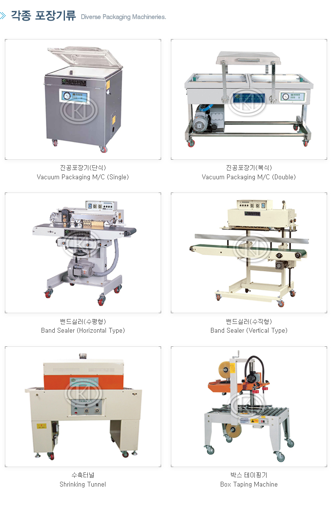 KOREA TECHNO PACK Diverse Packaging Machineries