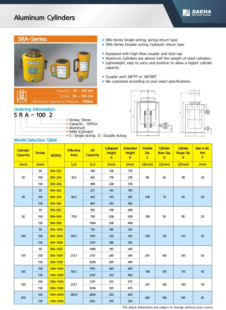 DAEHA Aluminum Cylinder