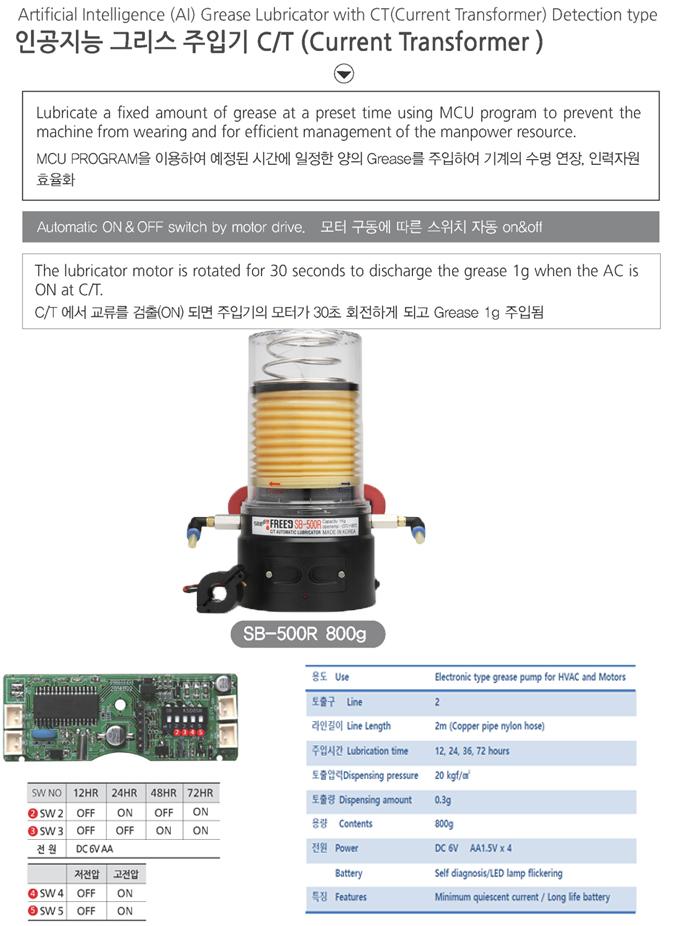 SEONG BO ENTERPRISE Artificial Intelligence (AI) Grease Lubricator C/T SB-500R
