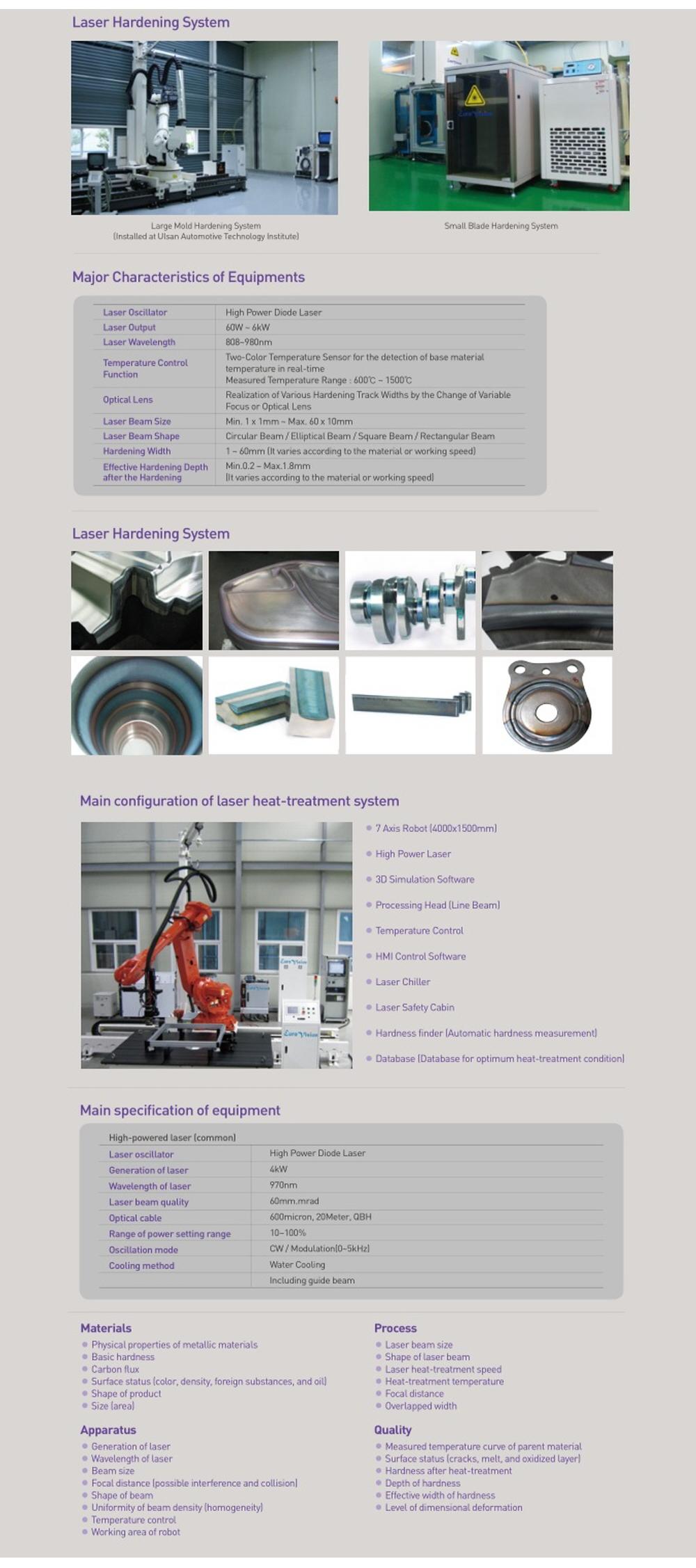Euro Vision Laser Laser Hardening M/C