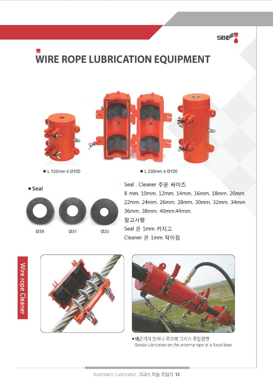 성보기업 Wire Rope Lubrication Equipment SB-747 1