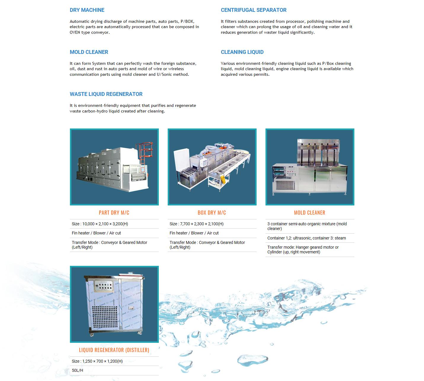 CLEAN POWER SYSTEM Dry Machine Etc.