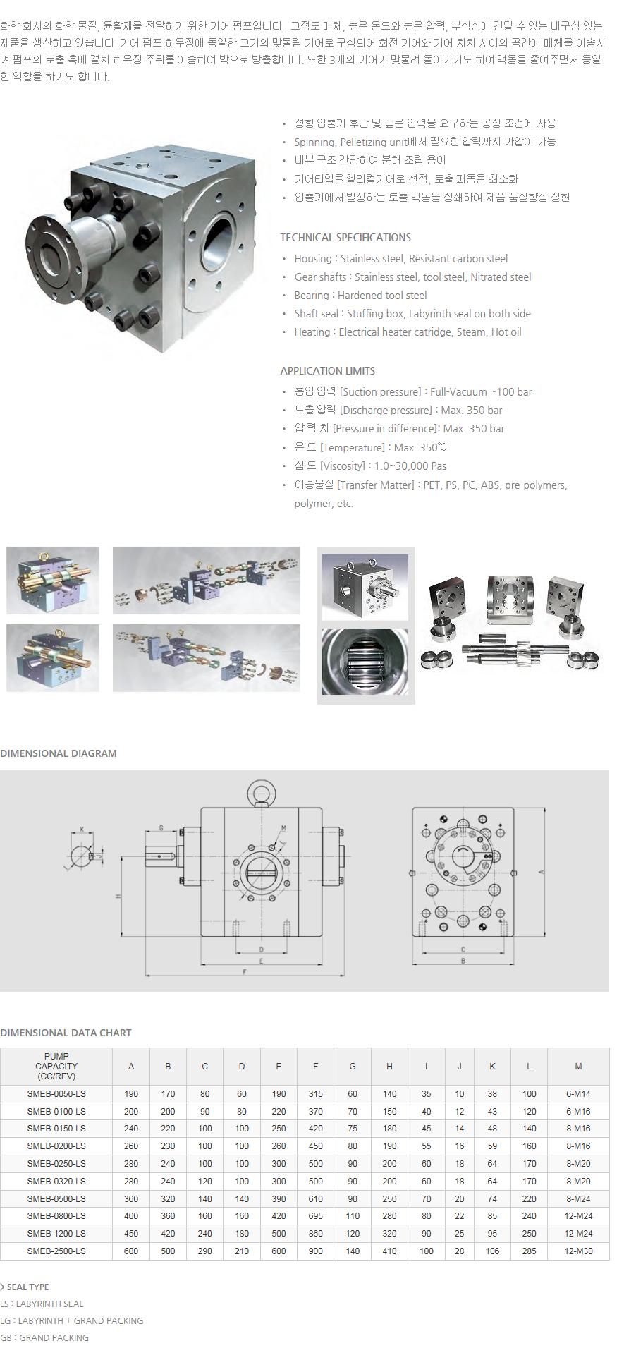 (주)에스엠지 SMEB Gear Pump  1