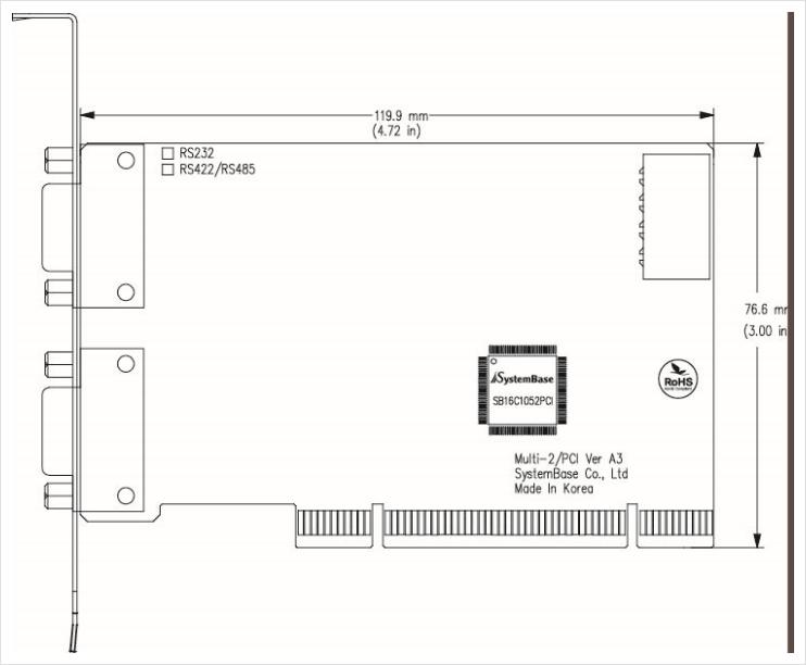(주)시스템베이스 PCI Multi-2/PCI RS232 5
