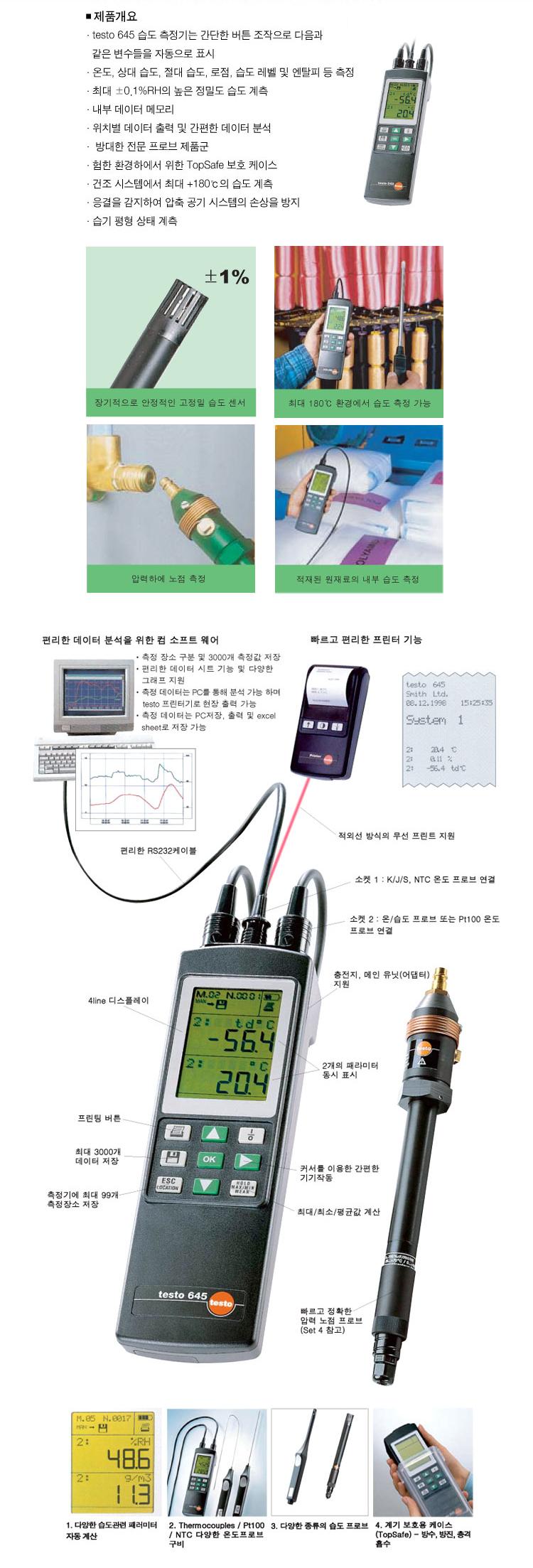 케이티이엔지 고정밀 온습도 측정기 KT-645