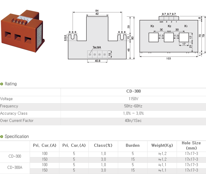 Dae-Boong Electric 3Phaes Current Transformer CD-Series 4