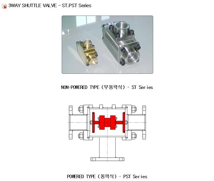 (주)은하에어테크 3방 셔틀 밸브 ST.PST Series 1