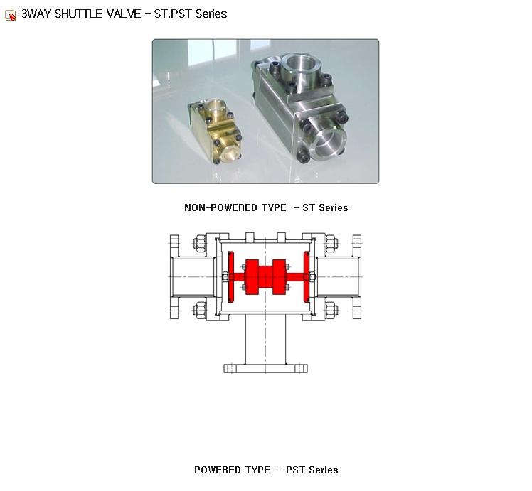 Eunha Air Tech 3Way Shuttle Valve ST.PST Series