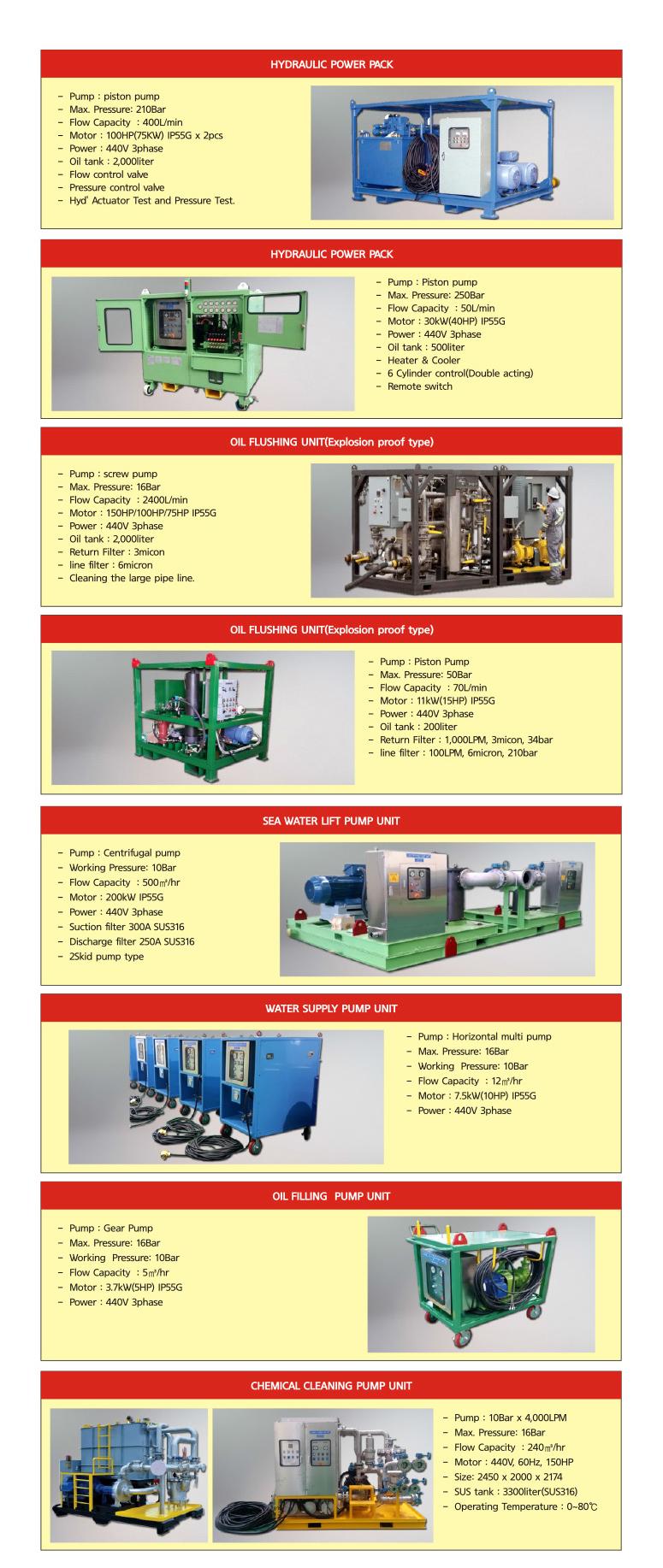 DAEHA Hydraulic Pressure Pump Unit  2