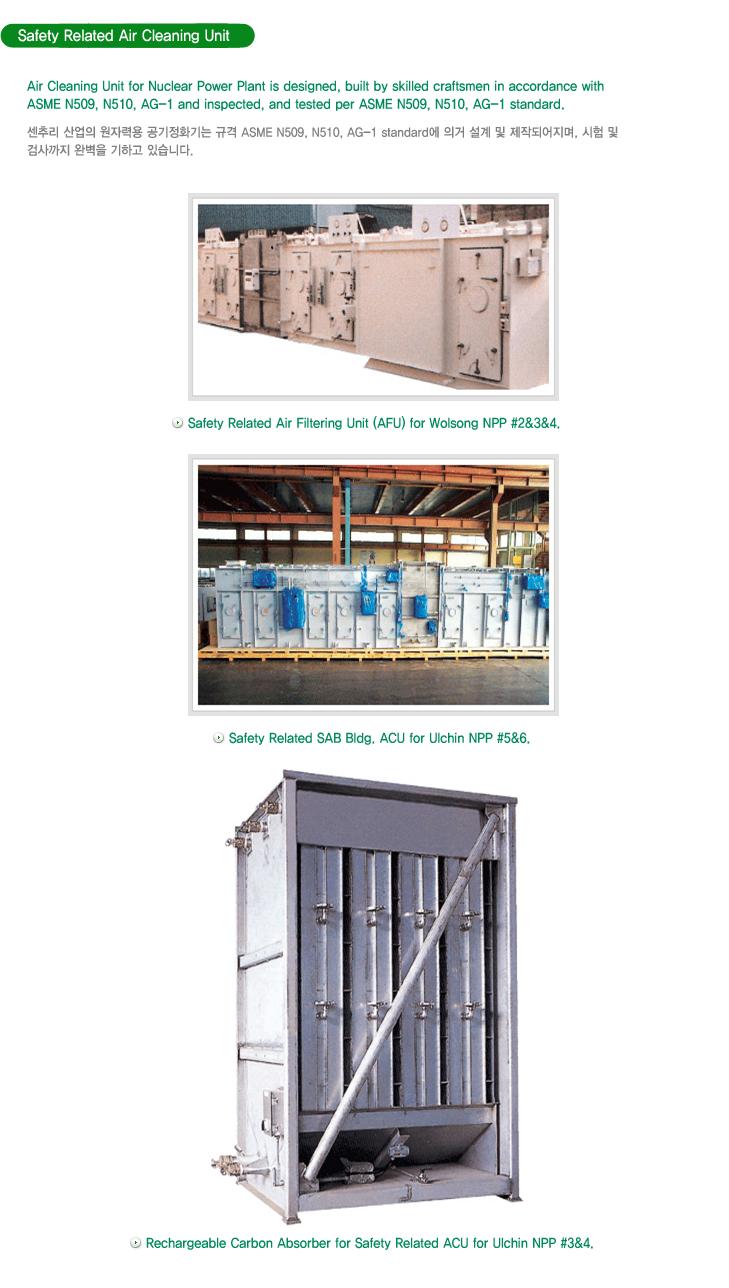(주)센추리 Safety Related Air Cleaning Unit