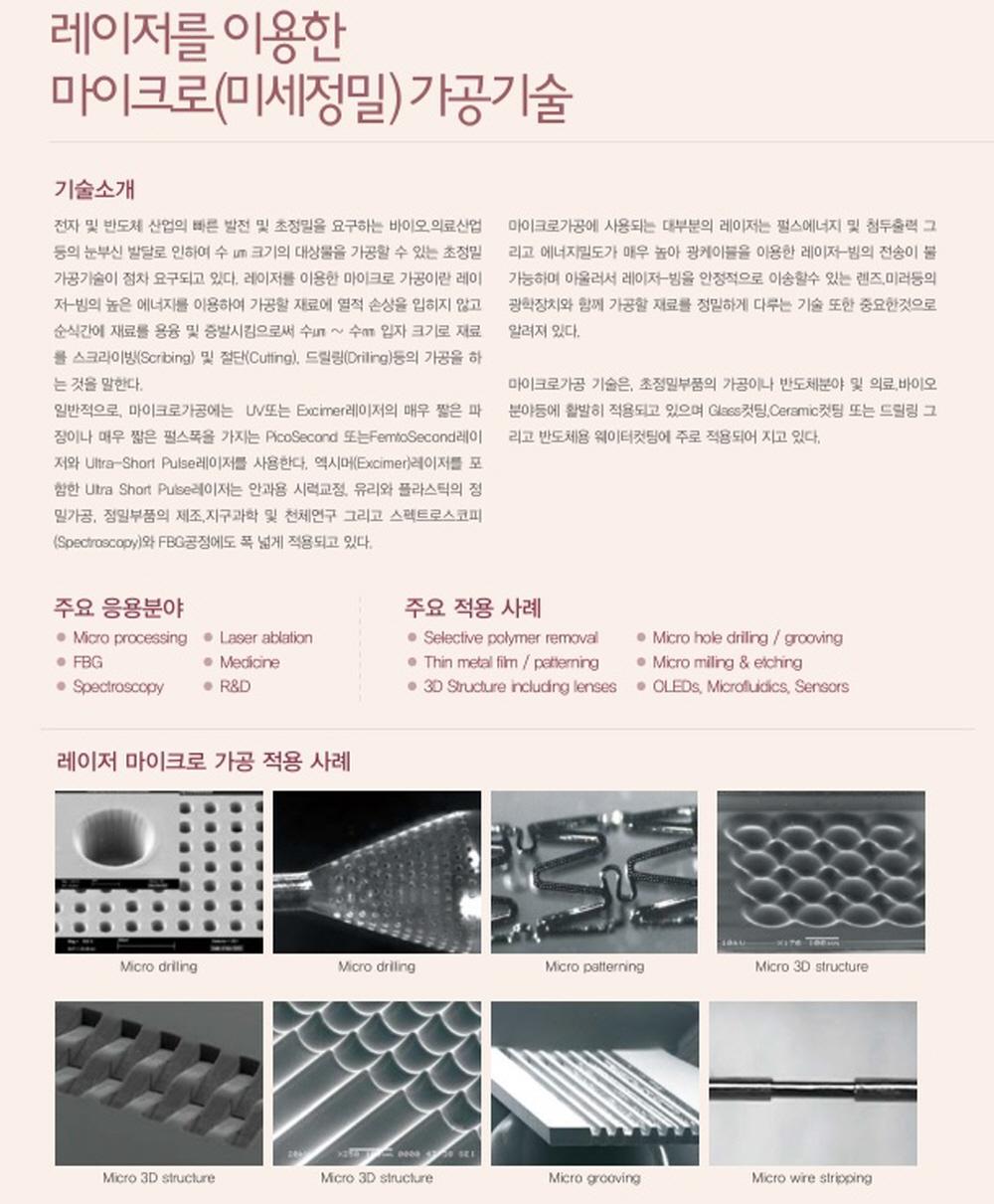 (주)유로비젼레이저 Laser Micro(Precision) & Marking M/C  1