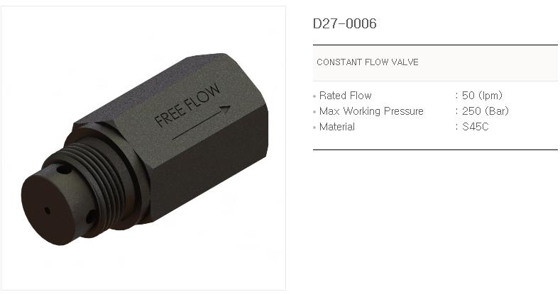 IKSANHYD Flow Regulators D27-0006