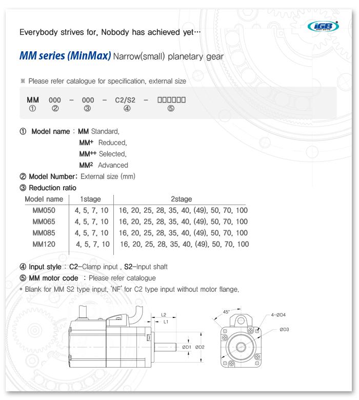 SEJIN IGB Planetary gear MM-C2 Series