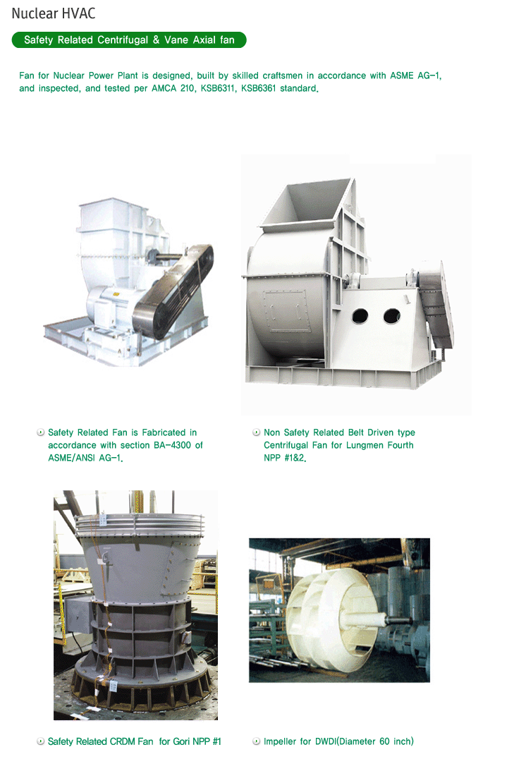 CENTURY Safety Related Centrifugal & Vane Axial fan
