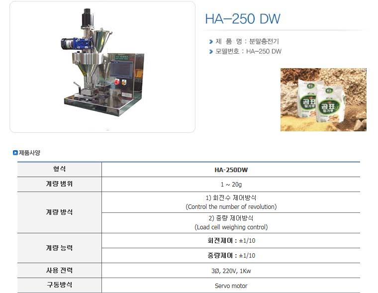 한샘테크 분말충전기 HA-Series 8