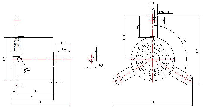(주)정우전기 공조기용 유도전동기 지지대L형