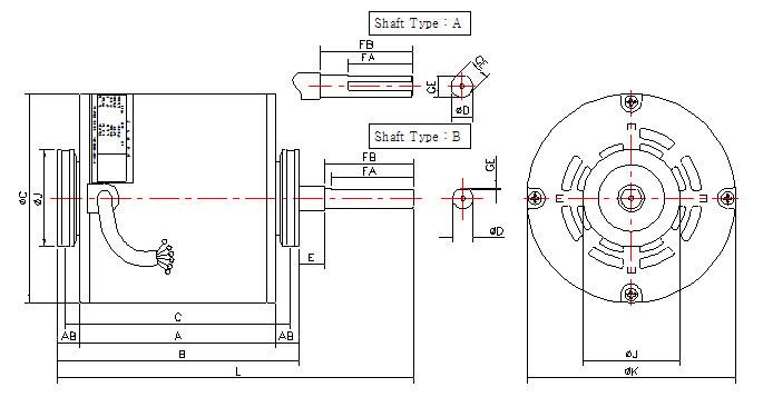 (주)정우전기 공조기용 유도전동기 방진구형