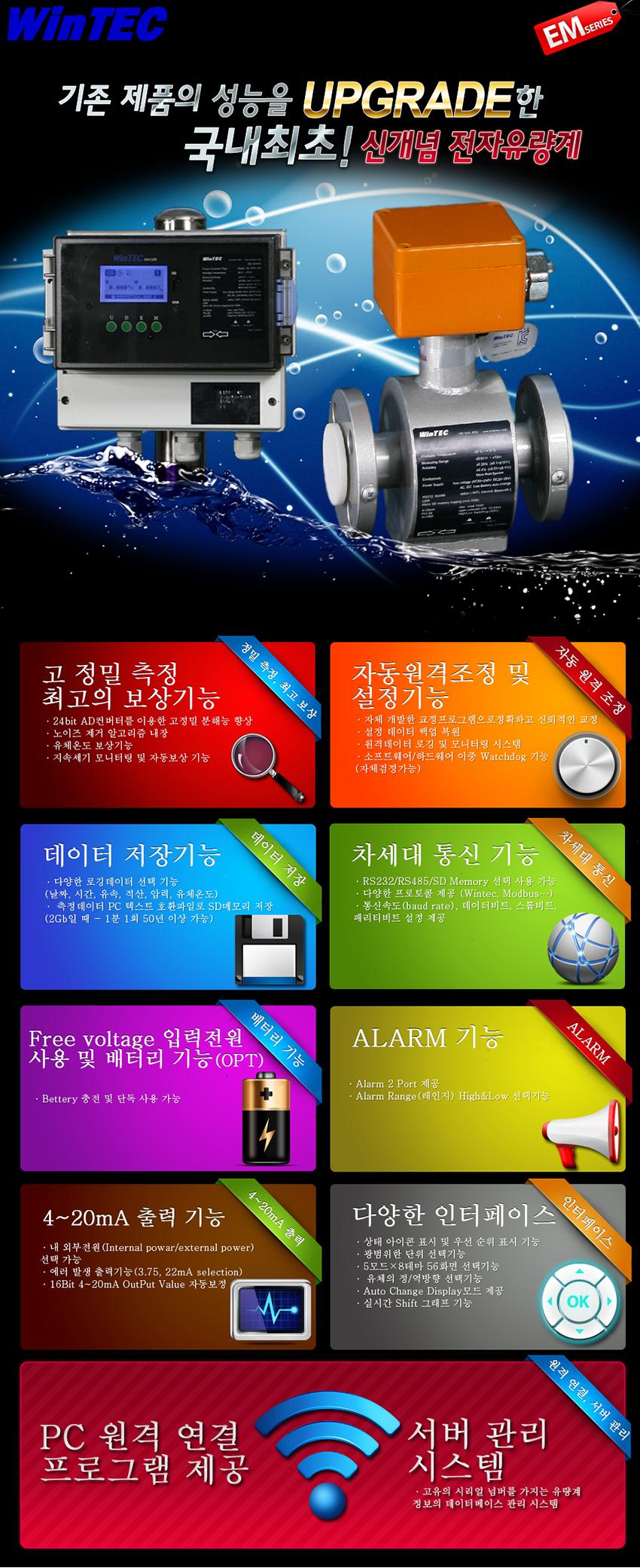 (주)윈텍 전자유량계 EM1100