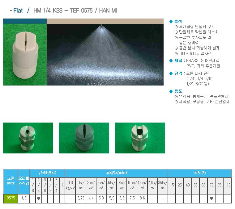 (주)한미노즐ENG  HM 1/4 KSS - TEF 0575 / HAN MI