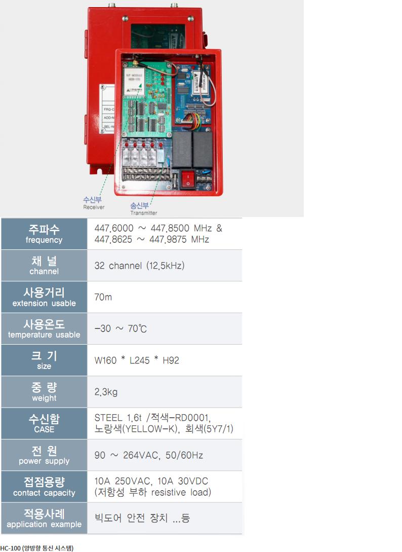 (주)한길제어  HC-100