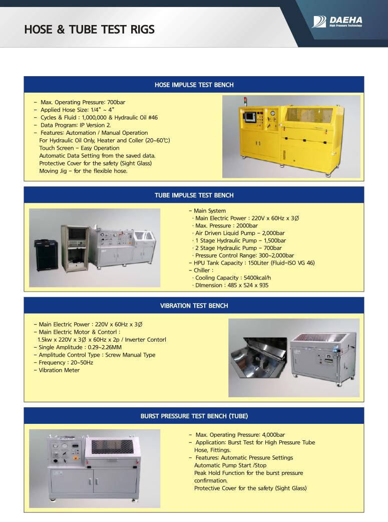 DAEHA Hose & Tube Test System