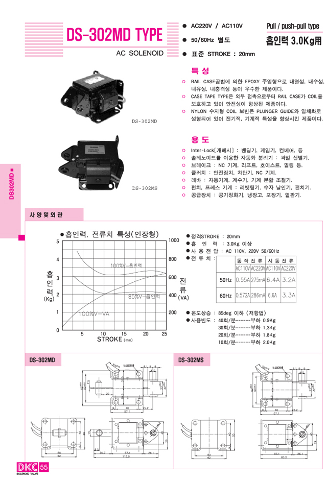 디케이씨  DS302MD