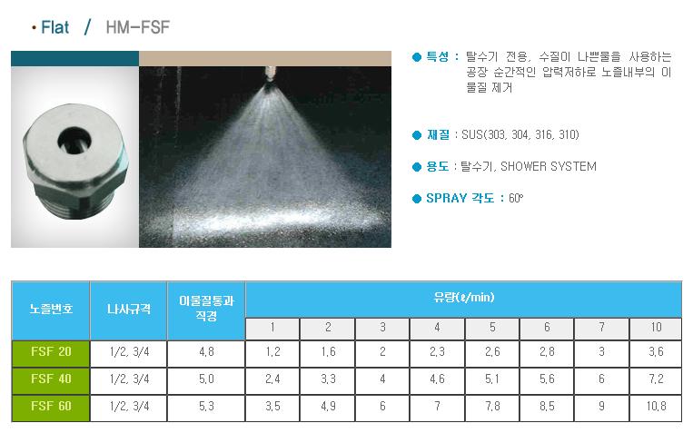 (주)한미노즐ENG  HM-FSF