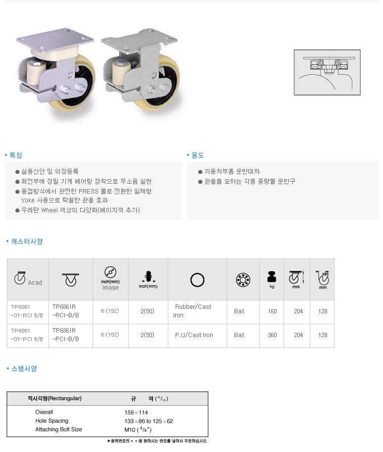 (주)삼송캐스터  TP6801 1