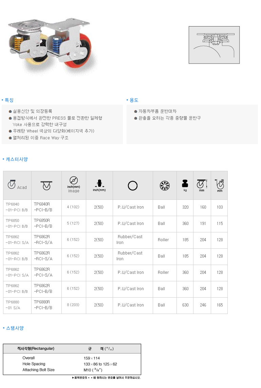 (주)삼송캐스터  TP6802 1