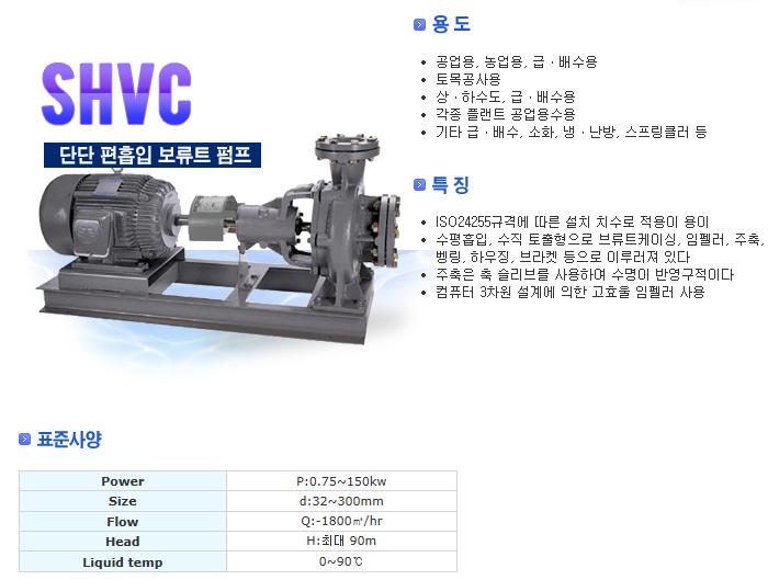 신신펌프제작소 단단 편흡입 보류트 펌프 SHVC