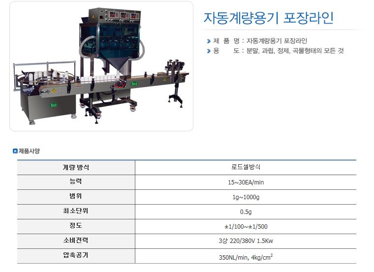 한샘테크 자동계량기 HS-Series 10