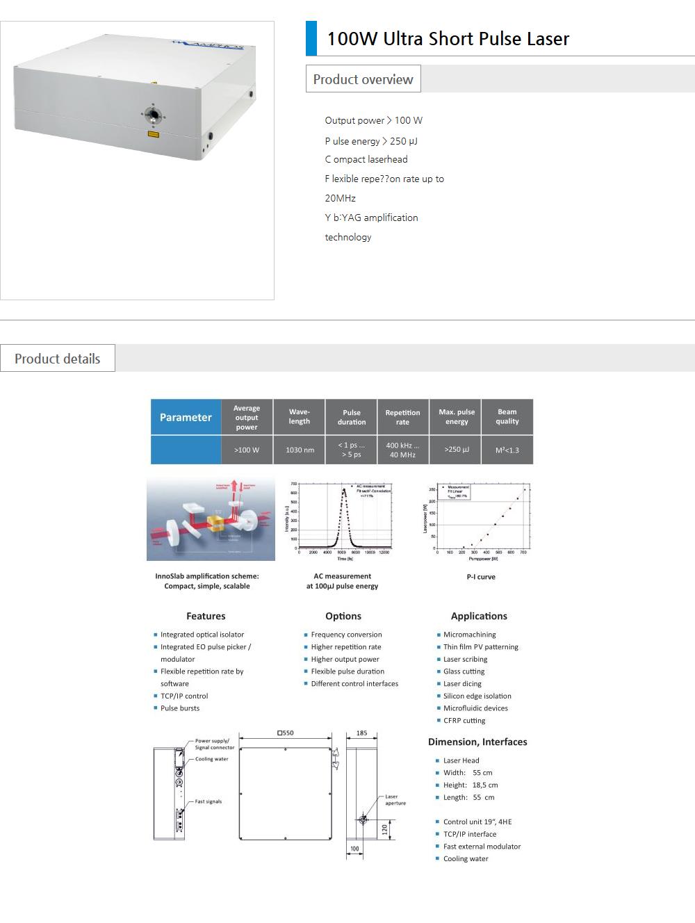 Euro Vision Laser Pico / Femto  2