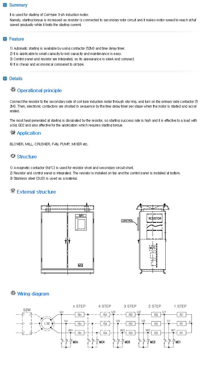 HURECX Starting Resistor - Magnetic Contactor Type