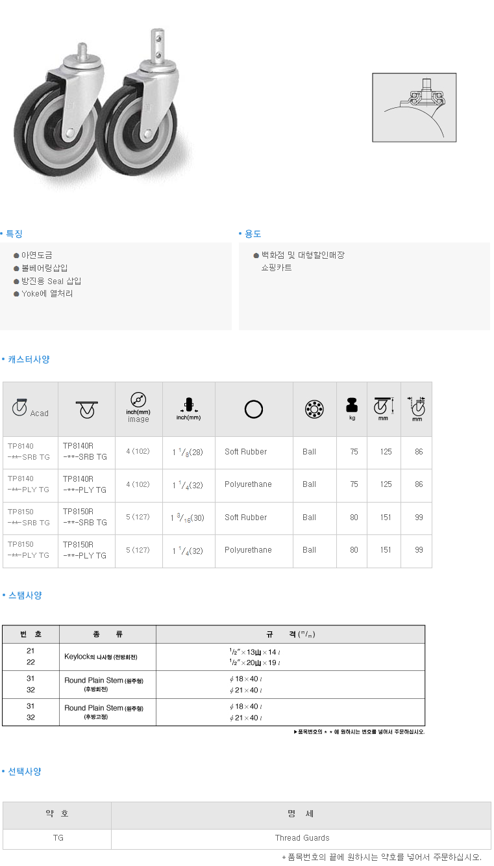 (주)삼송캐스터  TP8100 1