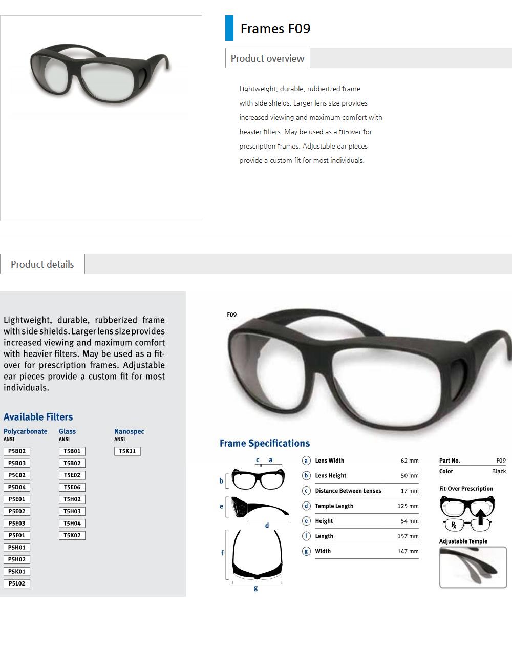 Euro Vision Laser Laser safety eyewear  2