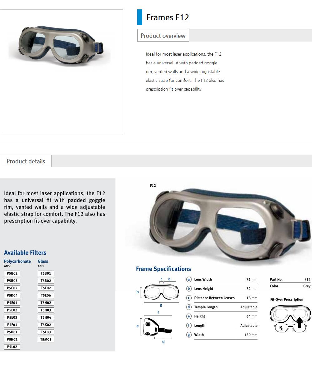 Euro Vision Laser Laser safety eyewear  3