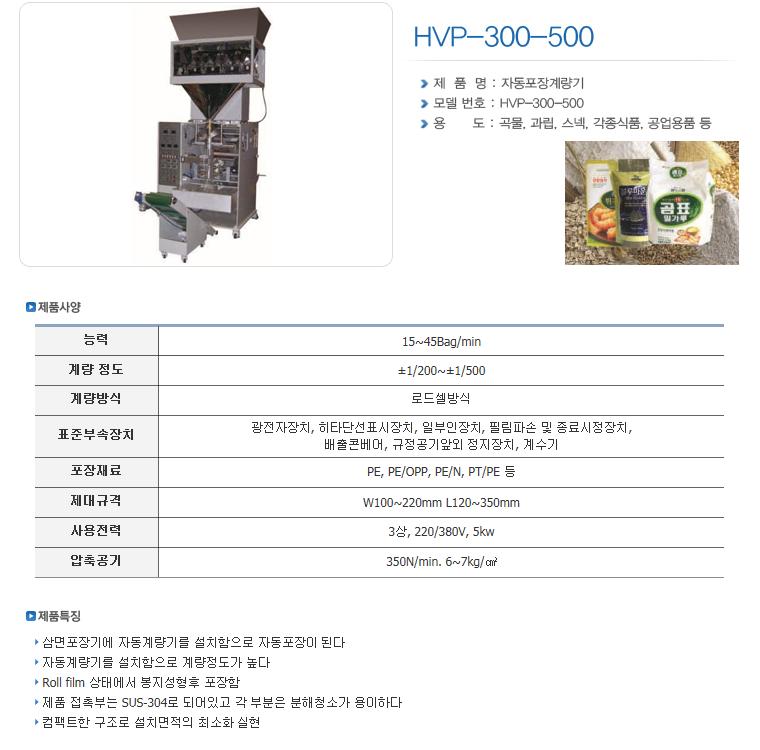 한샘테크 버티칼 자동포장기 HVP-Series 16